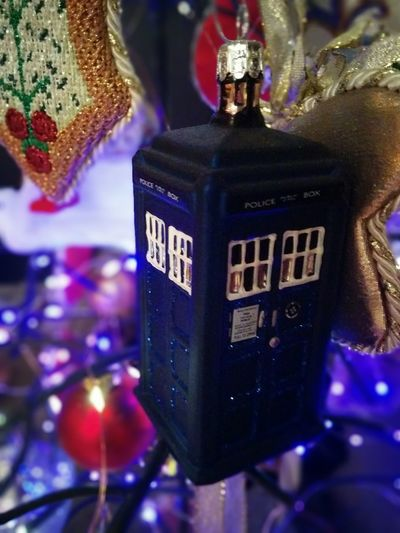 MerryChristmas Happy Holidays! Ornaments Christmas Tree Celebration Tardis Indoors  Close-up No People Day