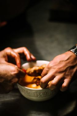 What's for dinner ? Food And Drink Food Bowl Human Hand Holding One Person Human Body Part Healthy Eating Close-up Freshness Ready-to-eat Indoors  Eating People