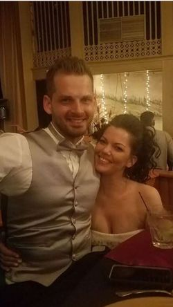 My girlfriend and I. Smiling Two People Happiness Lifestyles Looking At Camera Celebration Indoors  Tuxedo Couple