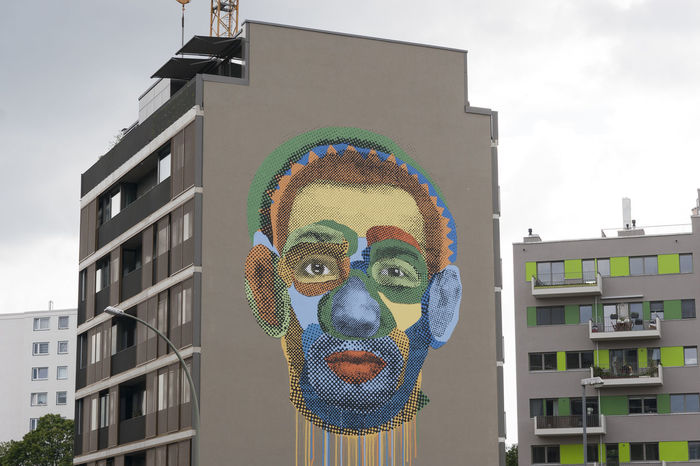 Architecture Art Barack Obama Berlin Building Exterior Built Structure City City Life Cityscape Cloud - Sky Day Multi Colored Mural No People Outdoors Sky Urban Skyline