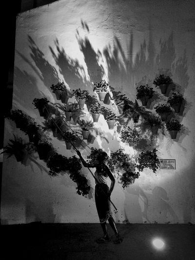 Walking Andalucía SPAIN Walking Around B&w B&w Street Photography Light And Shadow Independent Eye One Shot Taking Photos Streetphotography Streetphoto_bw Streetphotography_bw Black And White Blackandwhite Iphone5s Córdoba Night Nightphotography Sculpture Flower Patio Woman