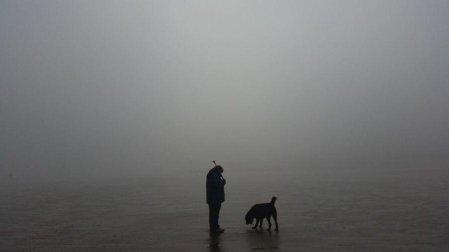 Person with dog