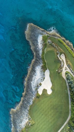 Aerial image of Bahamas golf course Exuma Aerial Bahamas DJI X Eyeem Dronephotography Bahamas Golf Course View Golf Course Golf Water Sea High Angle View Aerial View Beauty In Nature Beach No People Day Land Nature Scenics - Nature Turquoise Colored Green Color Outdoors Coastline Sport Tranquility
