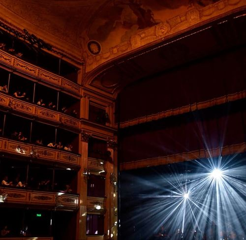 Theater Arts Culture And Entertainment Illuminated Architecture Built Structure Low Angle View Ceiling Indoors  Lighting Equipment No People Nightlife Music Night Stage - Performance Space Enjoyment Event Stage Light Decoration Travel Destinations Luxury