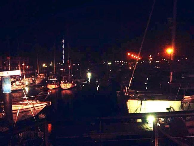 Illuminated Night Dark Sky City Life Town No People Dock Boats Waterfront Southampton Docks Illuminated Night Dark Sky City Life Harbor Tourism Town No People