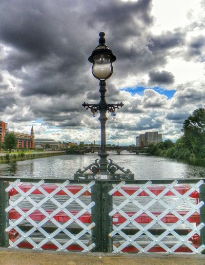 River Clyde View From A Bridge Clouds And Sky Bloodylampposts