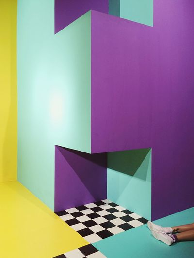 Indoors  Checked Pattern No People Purple Multi Colored Chess Chess Board Blue Close-up Chess Piece Day Human Leg Olympus Perspective Playground