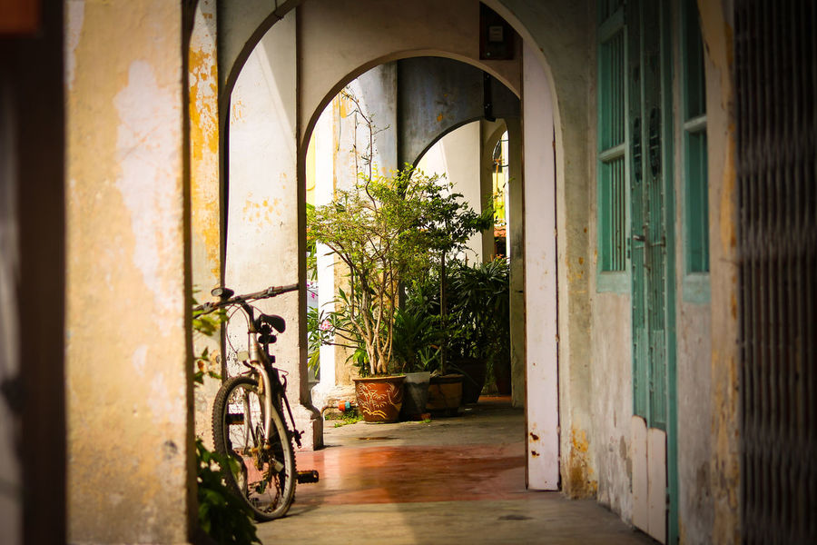 Door Bicycle Doorway Indoors  No People Day Window Architecture Street Photography Penang Malaysia Symmetry UNESCO World Heritage Site Streets Of Penang Penang, Malaysia The Week On EyeEm