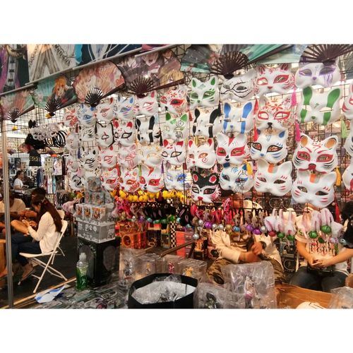 No People Outdoors Multi Colored Variation 漫展 Arts Culture And Entertainment Anime Expo For Sale 2017 Kunming Kunming, China Kunming,Yunnan,China Mask Masks Fan Fans T-shirt T-shirts Poster Posters Japanese  Day