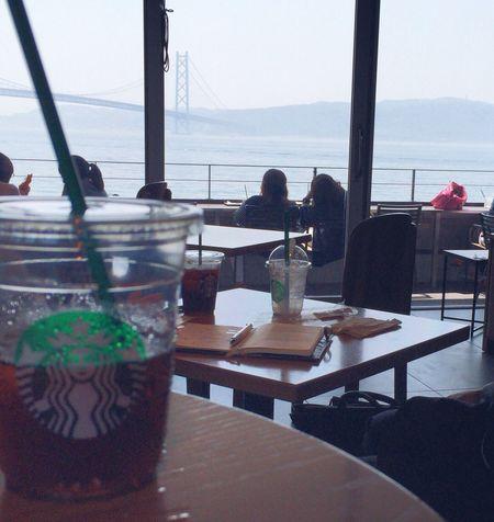 Starbucks Coffee Coffee 明石海峡大橋 IPhoneography Iced Coffee Iphone6 Kōbe-shi Japan EyeEm Best Shots スタバ