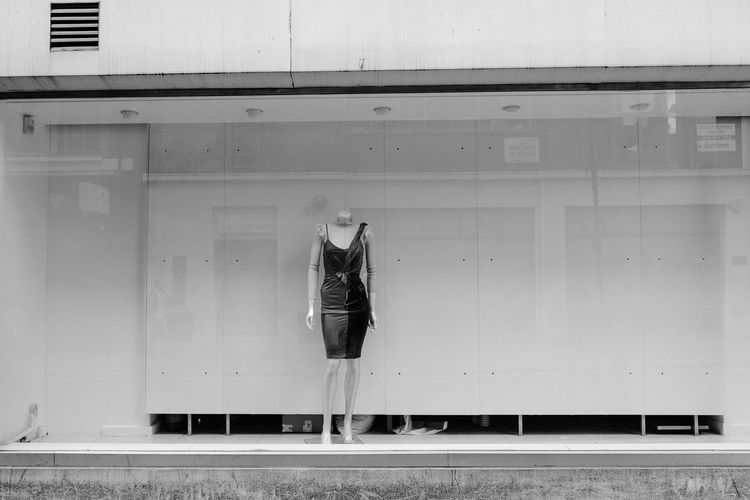 Alone Dress London Mannequin Blackandwhite Dummy Monochrome Outdoors Outside Shop Window Solo Street Street Photography Streetphoto_bw Streetphotography Uk Window