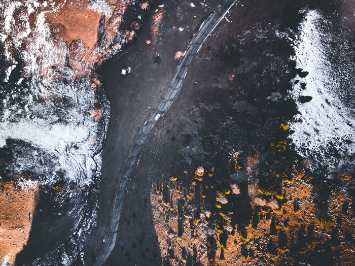 Water Nature Motion No People High Angle View Day Tree Outdoors Rock Rock - Object Beauty In Nature Wet Autumn Plant Change Land Solid Sea Flowing Water Flowing Power In Nature Dronephotography Snow Sunrise Fall Beauty