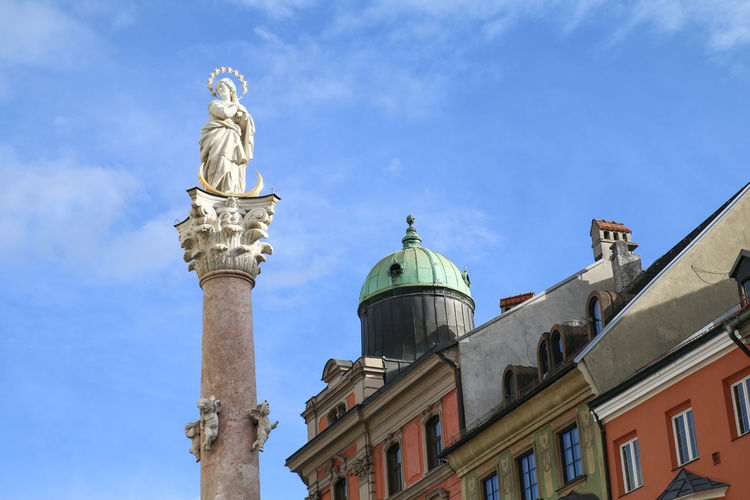 Annasäule pillar in Innsbruck market square Austria Innsbruck Travel Annasäule Europe Landmark Pillar Sights Tour Tourism