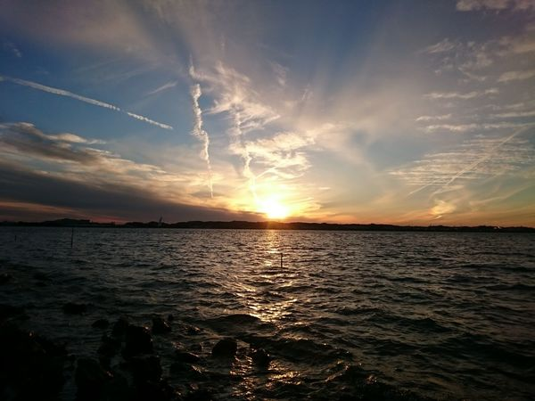 Sunset Reflection Sea Scenics Water Sun Dramatic Sky Tranquility Outdoors Cloud - Sky Beauty In Nature Nature Horizon Over Water Tranquil Scene Sky No People Beach Astronomy Day