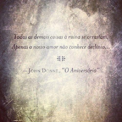 Sem legenda! JohnDonne OAnivers ário