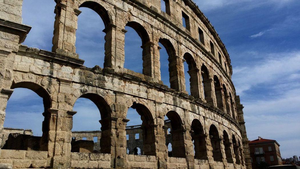 Pula Istria Amphitheatre Old Ruin History Ancient Tourism Travel Destinations The Past