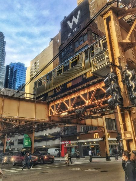 Train Tracks Train Circling Above the Chicago Loop Noisy Loud Awesome Public Transportation Commuting in the Windy City aka Chicago IPhone Iphonephotography Pictureoftheday Picoftheday EyeEm Eyeemchicago Eyemphotography Chicago Street Scene Amateurphotography