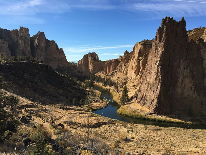 Smith Rock , My Church. Rocks Hike Central Oregon Oregon Explored Smith Rock Water Sky Nature Tranquility Outdoors Beauty In Nature