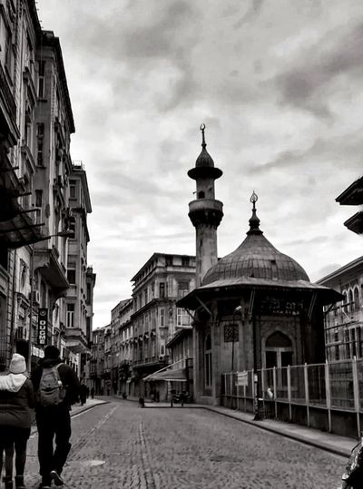 Sirkeci EyeEm Best Shots Blackandwhite City Day Black City Sky Architecture Building Exterior Cloud - Sky Built Structure Cathedral Mosque City Street Tramway Track Old Town