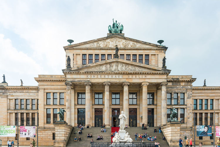 People At Konzerthaus Berlin In City