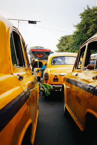 India Incredible India Yellow Taxi Yellow Taxi Transportation Street City Car Transportation VSCO ASIA The Week Of Eyeem Eye4photography  Check This Out EyeEm Best Shots Travel Photography Documentary Colorful Journey Vscocam Colours City Kolkata