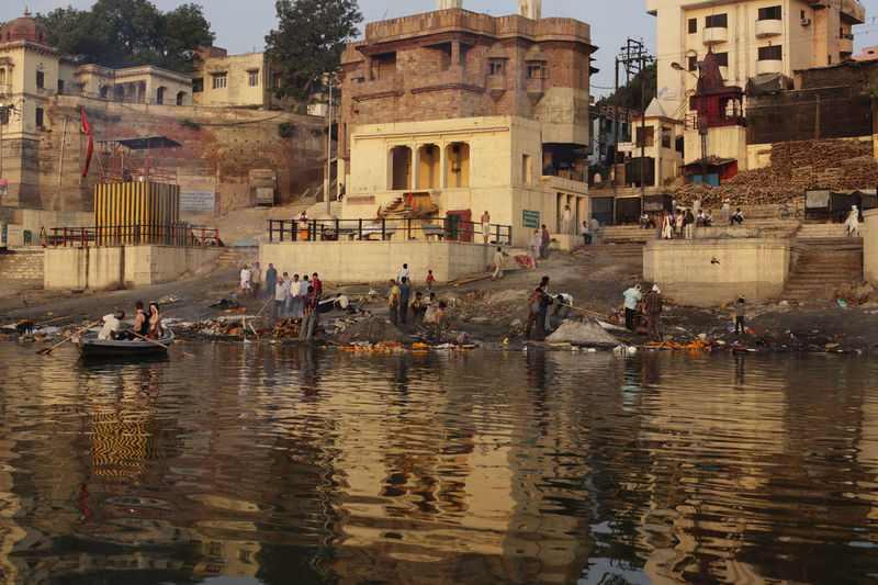 Group of people at ghat