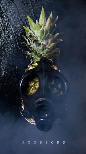 Airpolution Ananas Attack Black Background Close-up Fear Gasmask No People Polution Selection Days