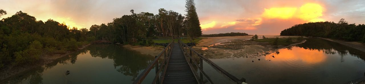 Beach Bridge Moonee Beach Orange Sky Panoramic Landscape River Sunset Trees First Eyeem Photo