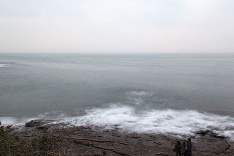 long exposure view of Chaeseokgang, a famous cliff seaside in Byeonsan, Jeonbuk, South Korea Beach Beauty In Nature Chaeseokgang Day Horizon Over Water Long Exposure Nature No People Outdoors Scenics Sea Seaside Sky Tranquility Water Wave