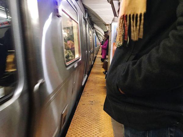 Before the rush Underground EyeEm Selects Train - Vehicle Transportation Public Transportation Passenger Train Mode Of Transport Subway Train People