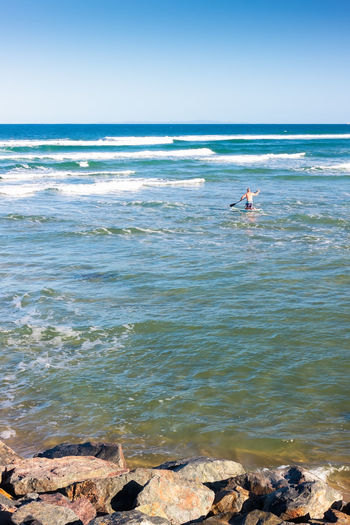 Going For The Waves Australia Beach Caloundra Escapism Getting Away From It All Nature Outdoors Queensland Rippled Sand Sea Shore Summer Surfing Tranquil Scene Tranquility Vacations Water Waterfront Weekend Activities