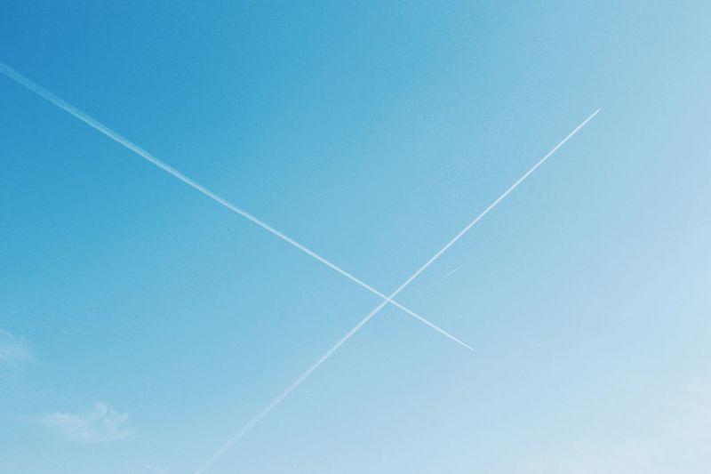Airplane Clear Sky Day Nature Sky_collection Clouds Cloud_collection  Clouds And Sky LINE Intersection Intersectinglines Pivotal Ideas Pivotal ıdeas