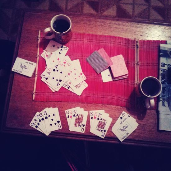Playing Cards With My Best Friend Drinking Tea Enjoying Myself