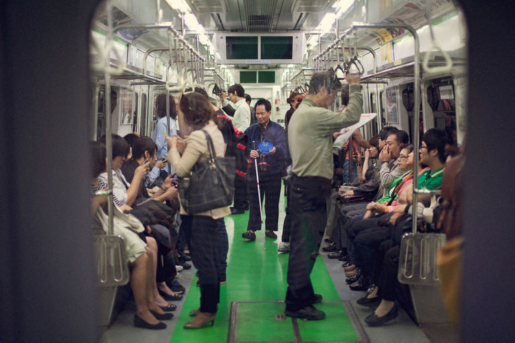Please Help~ CAD City Life Help Holding Indifference Lifestyles Ruthless Seat Standing Station Subway The Changing City in Seoul, Korea My Commute