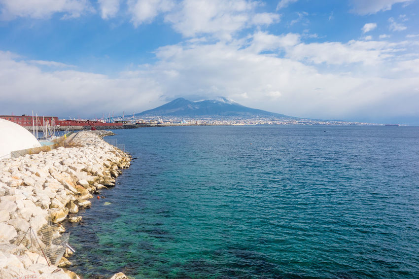 Naples view with vesuvio and sea. Bay Of Naples Beauty In Nature Day Mediterranean  Mountain Nature No People Outdoors Scenics Sea Sky Vesuvio Water