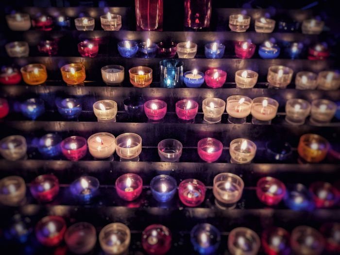 Cathedral Church Candle Candlelight Mobilephotography EyeEm Selects City Alcohol Multi Colored Shelf Drink Arts Culture And Entertainment Variation Close-up Darkroom Flame