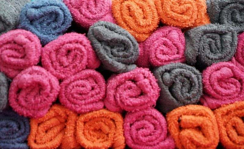 door gifts - towels Towel Towels Colors Colorful Pink Goodies Door Gift Wedding Multi Colored Wool Backgrounds Textile Full Frame Pattern Close-up Woolen Forestry Industry Knitted  Shop Pile Knitting