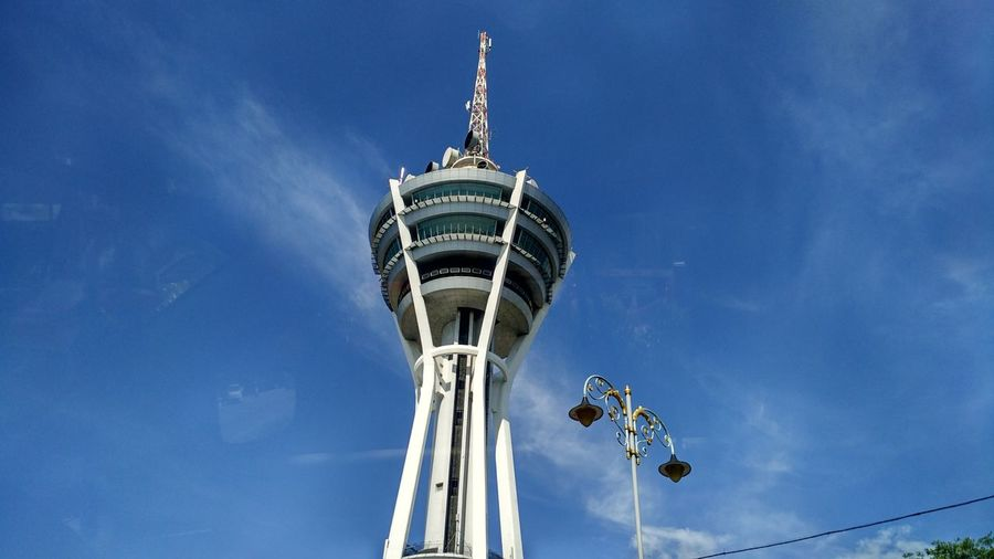 Alorsetar Architecture Blue Building Exterior Built Structure Cloud - Sky Communication Day Global Communications Kedah Low Angle View Malaysia Nature No People Outdoors Sky Sphere Spire  Sunlight Tall - High Tower Travel Travel Destinations