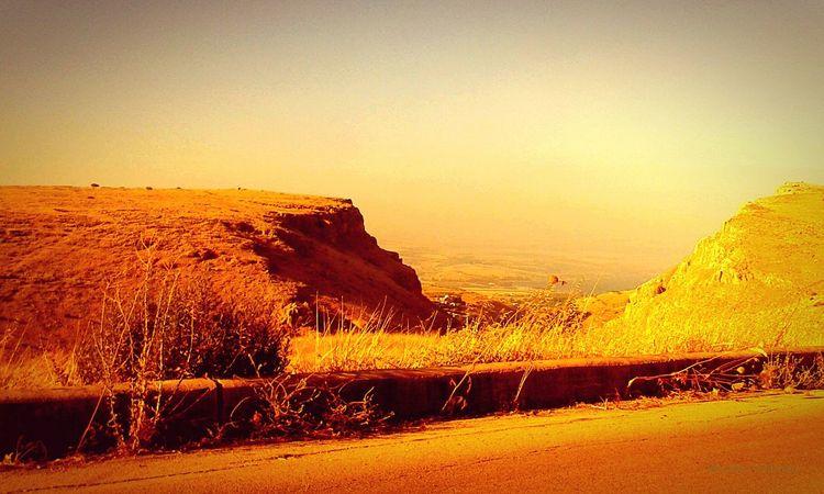 Israel <3 Cliffs Driving By Golden Light
