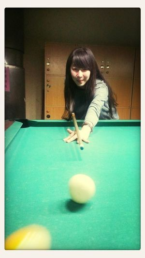 Playing pool and bowling w/ my sexy girl and her family.