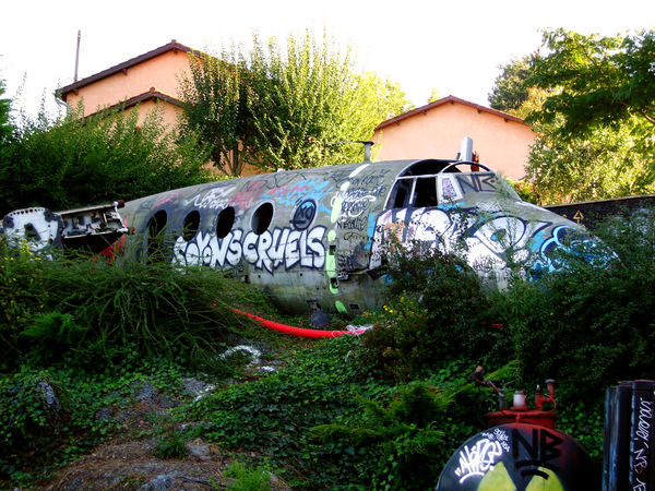 Architecture France La Demeure Du Chaos LandArt Lyon Area Destroyed Installation Destroyed Plane Installation Art Outsid Politics And Government Street Art