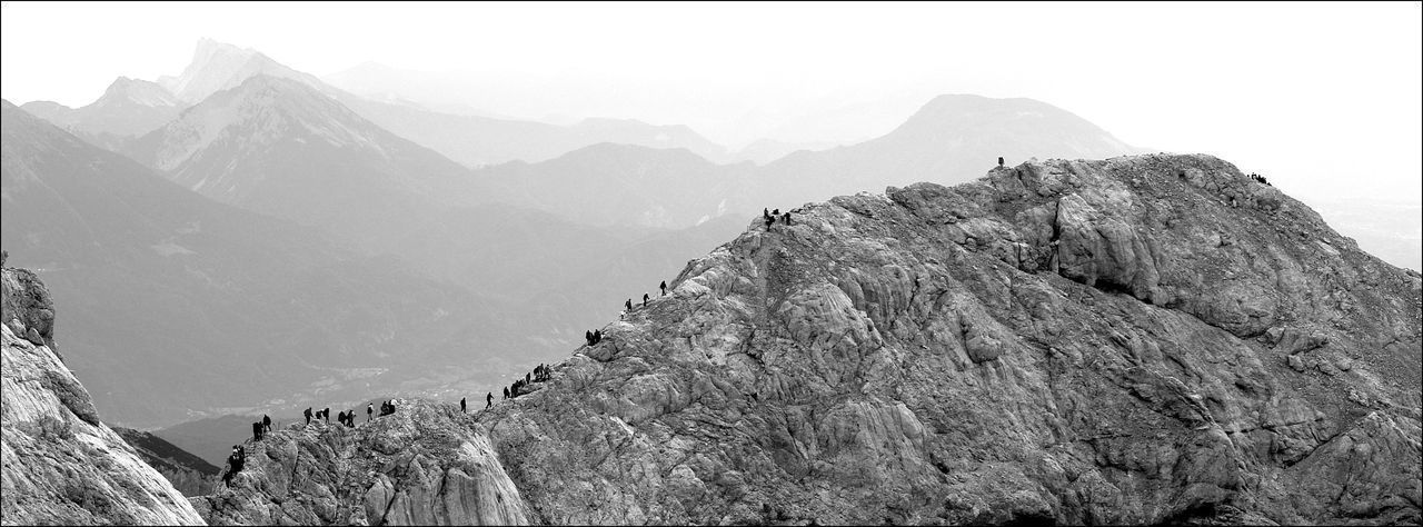 Black & White Blackandwhite Climbing A Mountain Geology Mountain Mountain View Natural Pattern Nature Outdoors Rock Rock Climbing Slowenia Triglav National Park The Great Outdoors - 2016 EyeEm Awards People And Places
