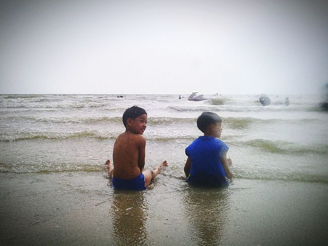 Pu&Peem.MySON♥ Being A Beach Bum Swimming Sea