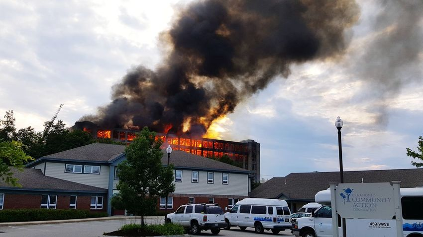 5 Alarm Fire Sanford Mills Maine New England  Structure Fire Lost In The Landscape Stories From The City