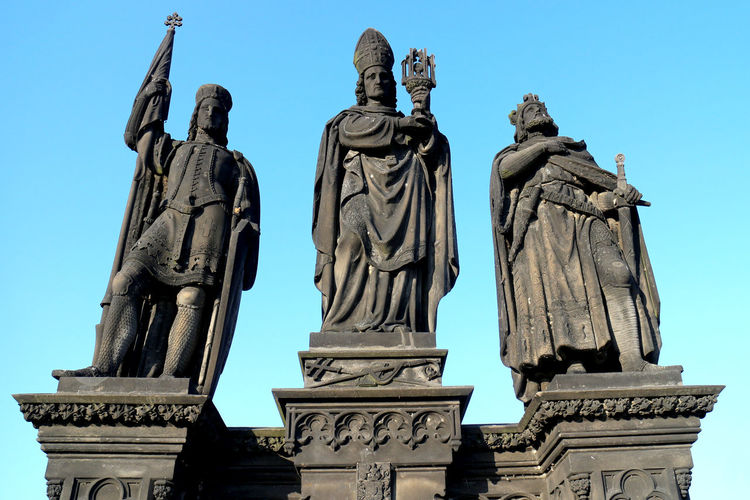 Statues Of Kings Against Clear Sky