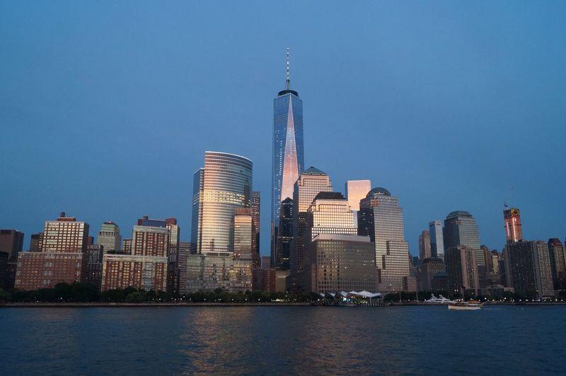 NYC WorldTradeCenter Historic Manhattan Beautiful Manmade Sunset Ocean Sky Skyscraper Tall - High Tall The Architect - 2017 EyeEm Awards