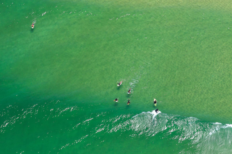 Surfing Barra da Tijuca - Rio de Janeiro - RJ - Brasil Beautiful Brazil Helicopter Moment Rio De Janeiro Summertime Surf Wave Aerial Aerial View Canon Canonphotography Day Green Color High Angle View Motion Nature Ocean Photo Sea Sport Summer Surfing Swimming Water