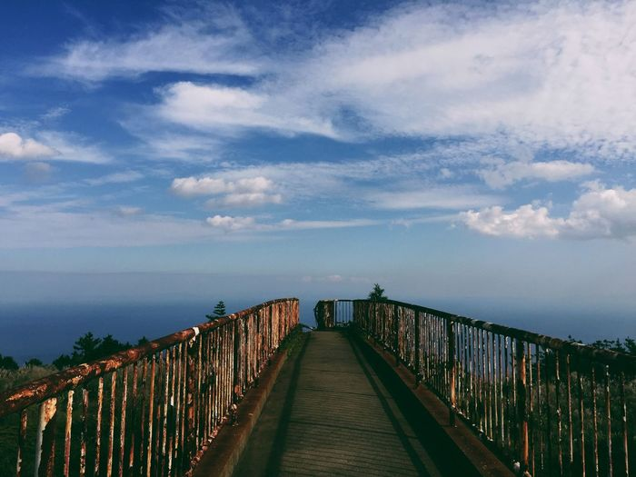 Travel Destinations Bridge Vscocam Railing Sky Cloud - Sky Sea Water Outdoors Horizon Over Water Nature No People Built Structure Architecture Beauty In Nature
