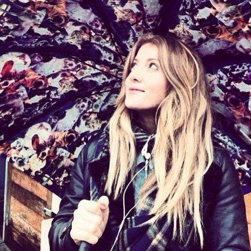 Umbrella Wet Weather Britishweather Drizzle Hair Blonde