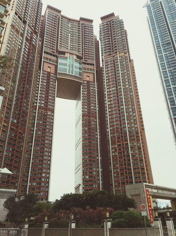 密集恐懼症無法直視,香港的大樓們兒。 Hk Buildings